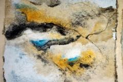 Fusion des pigments. Brou de noix, eau de javel, pigments lunaires