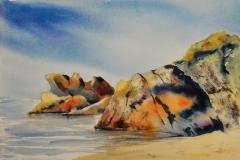 Porsac'h Aquarelle sur Arches 36x51