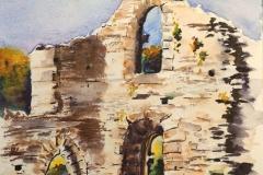 Les ruines de l'abbaye de Saint Maurice