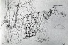 Les ruines du cloître de Hude