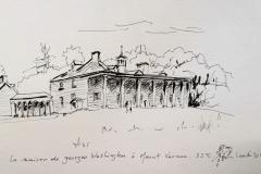 La maison de George Washington à Mont Vernon