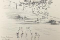 Au port du Pouldu, avec les croqueurs quimperlois