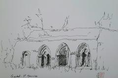 Guidel, la salle capitulaire à l'abbaye Saint Maurice