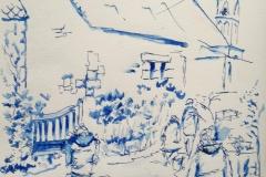 Guidel. Les croqueurs croqués à Locmaria