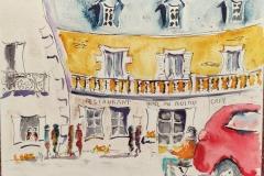 Au port du Pouldu, aquarelle sur papier Canson Montval 24x32