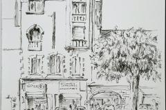 59° sketchcrawl à Larmor. Place de l'église