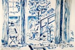Dans le petit jardin de Notre Dame des Victoires, avec les croqueurs de Lorient