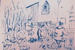 Les croqueurs quimperlois à Pont Aven