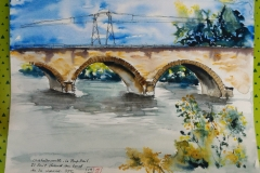 Châtellerault. Le pont rail sur la Vienne.