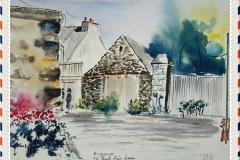 ARZANO sur la place de l'église