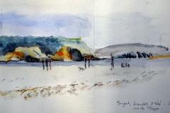 Morgat 63° sketchcrawl 03  - La plage avant l'été