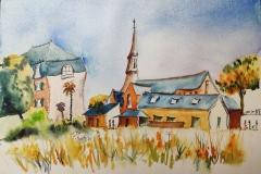 Au Trévoux, aquarelle sur Canson Montval 24x32