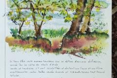 Au pays de l'Ankou, aquarelle sur Montval