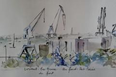 Les grues du port de Lorient