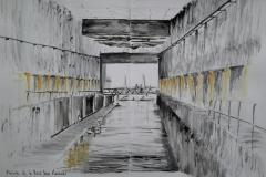 57° sketchcrawl à Lorient. Une alvéolé de la base des sous marins