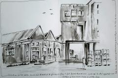 Lorient. Le port de pêche et les bâtiments de la glacière