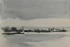 58° sketchcrawl à Lorient. L'autre côté de la rade