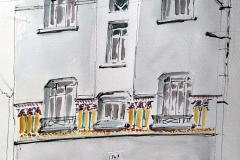 Lorient, rue Bayard, la maison aux mosaïques, il faisait si froid ce matin là