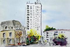 Lorient. L'hôtel Gabriel, la Tour de Guéméné et la banane