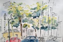 Lorient au cafe le cabotage, en attendant les copains croqueurs