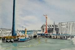 Les grues de l'arsenal de Lorient