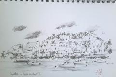 Lanester, les rives du scorff, vues de Lorient