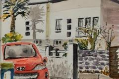 Lorient .la charmante petite rue Charles le Goffic