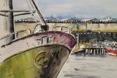 Port de pêche de Lorient. Le chalutier Galicien