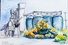 Les silos de Triskalia à Kervidanou Mellac