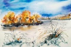 Ploemeur. L'étang de Lannenec à Saint Adrien