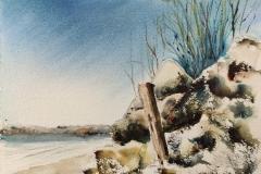 Un petit bout de la plage Du Fort-Bloqué, avec les copains croqueurs de Ploemeur