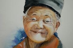 Portrait d'une femme Mong