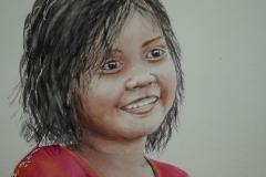 Portrait d'une petite fille népalaise