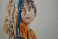 Portrait d'une petite fille de Rurrenabaque (Bolivie)