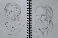 Portraits de Brigitte et Jean-michel