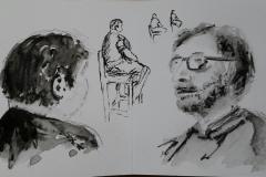 Portraits d'Henri et Jo au Savanah Café