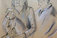 Portraits au Savanah Café, Karine Lola et Henri
