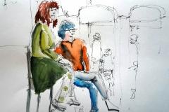 Nathalie et Sylvie en couleur au Savanah Café