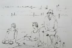 59° sketchcrawl a Larmor. sur la plage de Toulhars