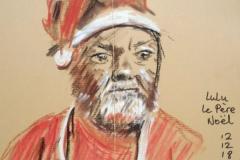 Notre Lulu papa Noël au Savanah Café