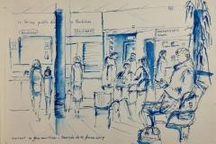 A la gare maritime de Lorient, en attendant le départ pour Groix