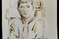 Séance portrait au Savanah Café mercredi. Alban pose