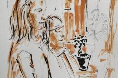 Au café le Savanah Café à Ploemeur, Alina et Virginie