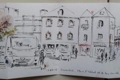 Rue Genot depuis la place St Michel - Quimperlé