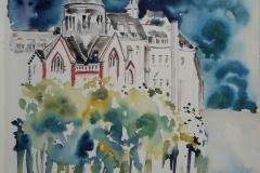 Quimperlé l'abbaye blanche. l'orage menace