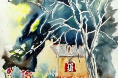 Quimperlé. l'arbre mort de la Laïta
