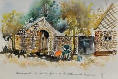 Quimperle. La vieille ferme de la Villeneuve Braouic.