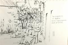 Les croqueurs croqués Dans le bourg de Rédéné